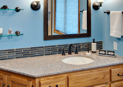 Bathroom Blue Vanity