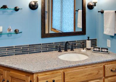 Bathroom Blue Vanity